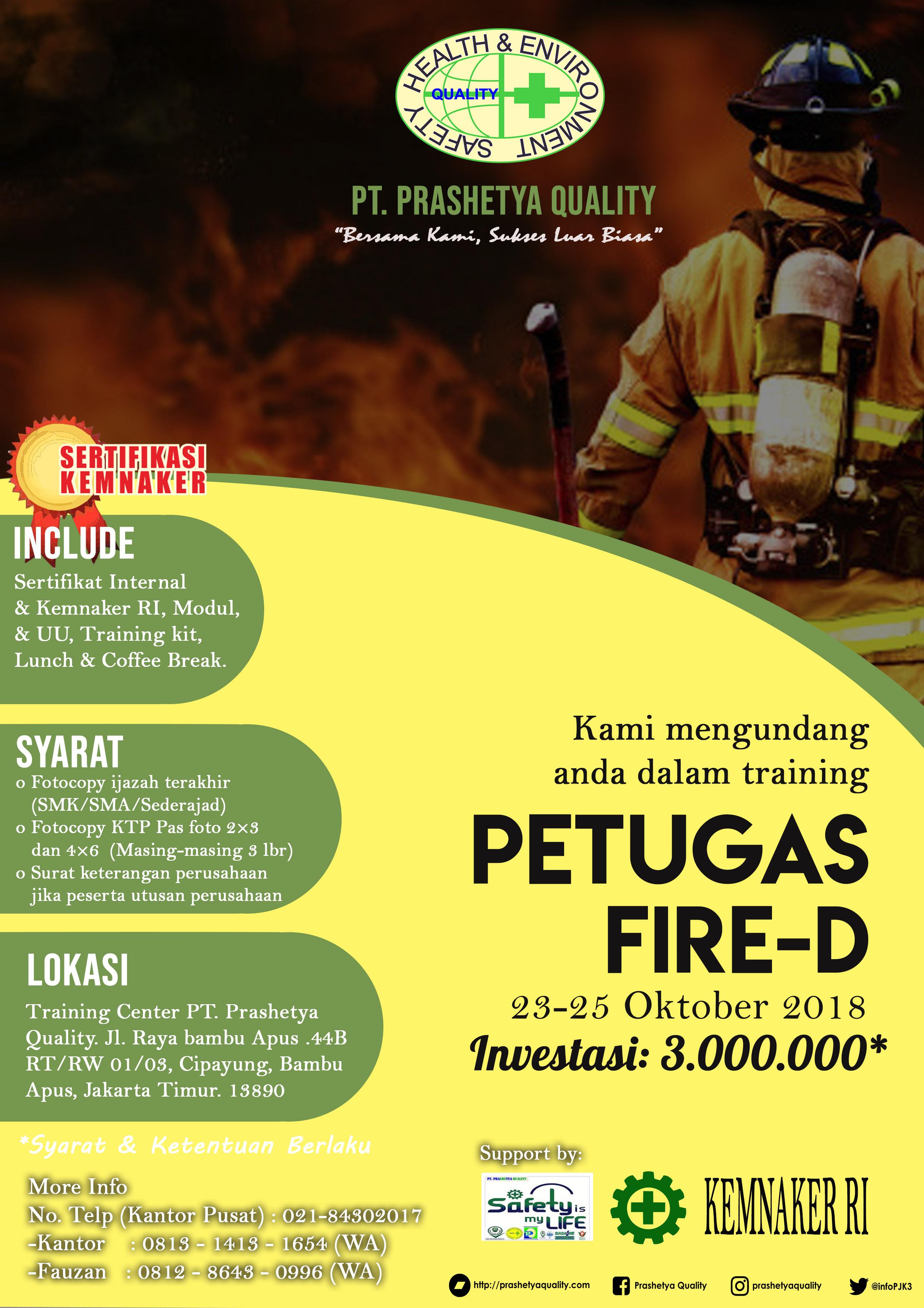 Training Petugas Kebakaran D